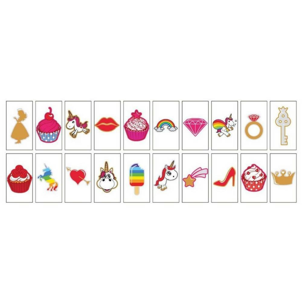 "20-Pack ""Unicorns & Cupcakes"" voor A5 Lightbox-1"