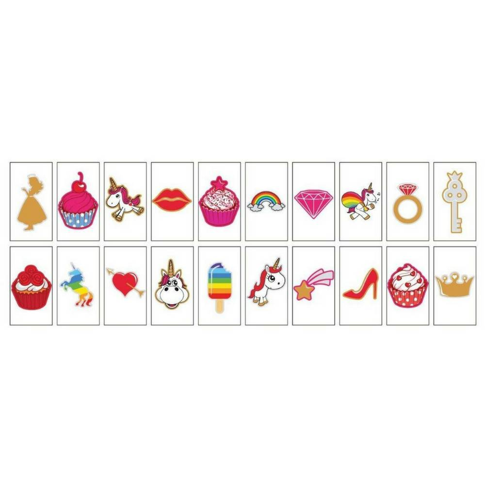 "20-Pack ""Unicorns & Cupcakes"" voor A6 Lightbox-1"