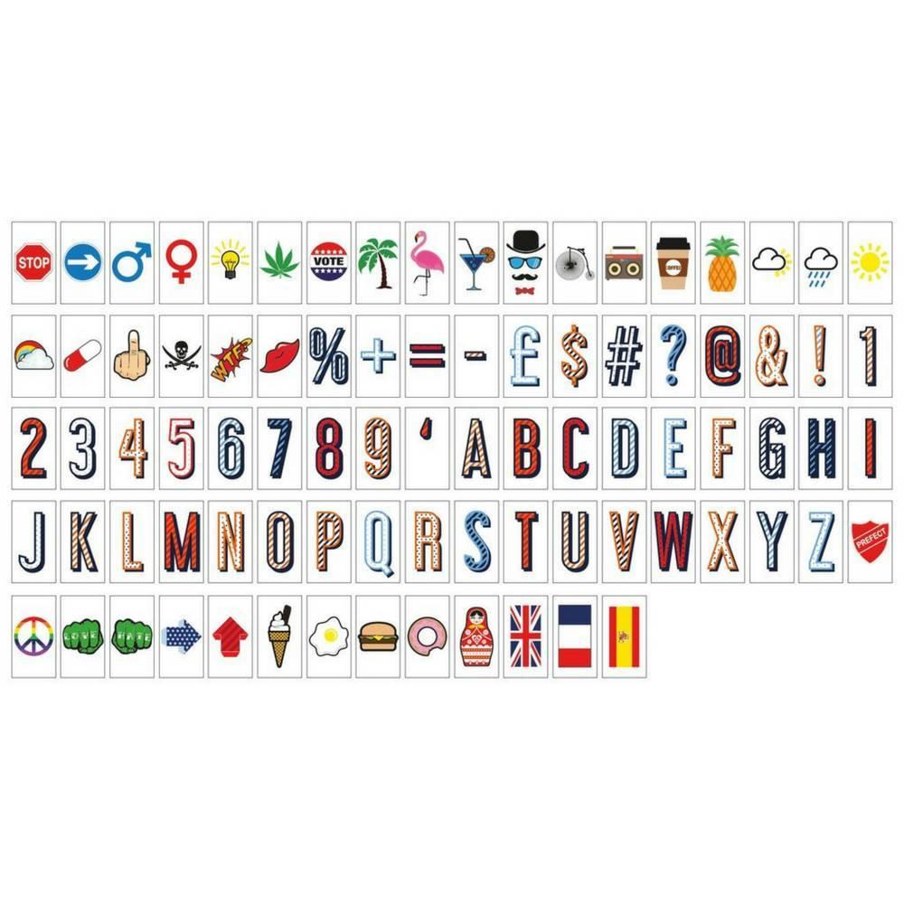 """Letters & Symbols"" 85-Pack voor A6 Lightbox-1"