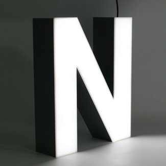 Quizzy LED Letter N