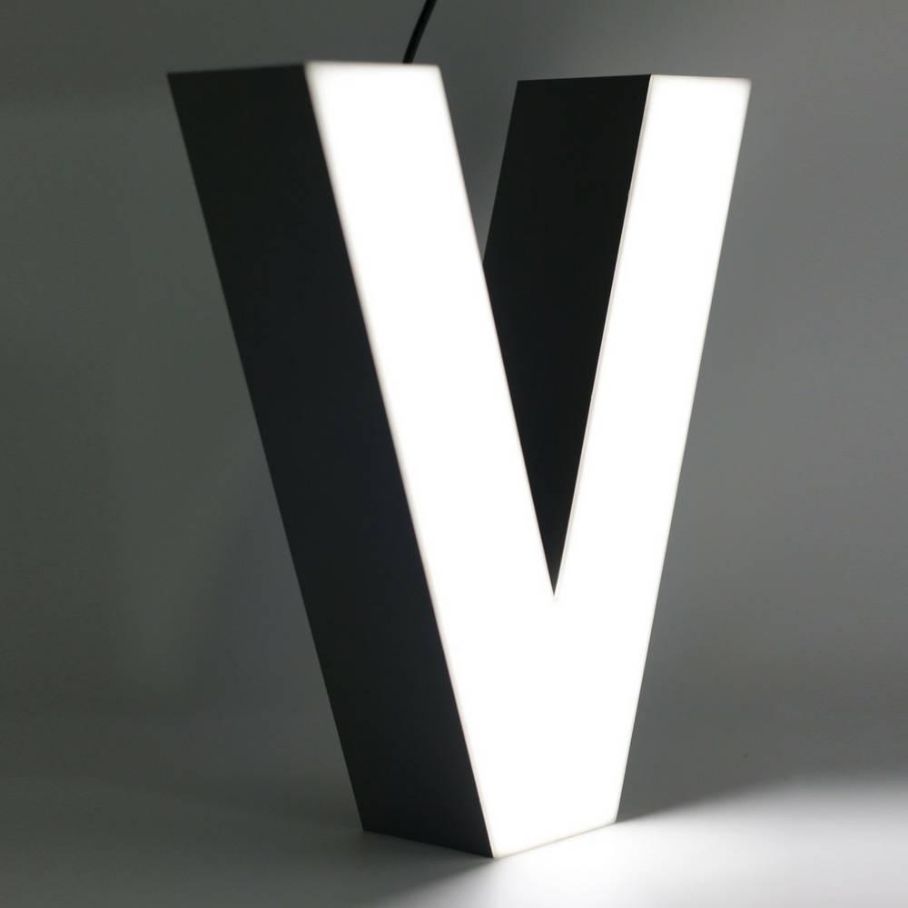 Silver Quizzy LED Buchstabe V-1