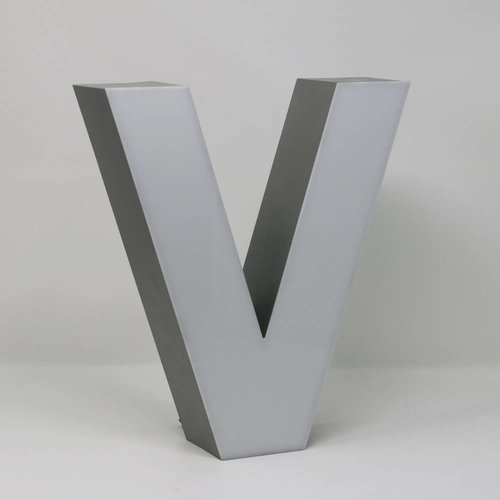 iLUTE Silver Quizzy LED Letter V