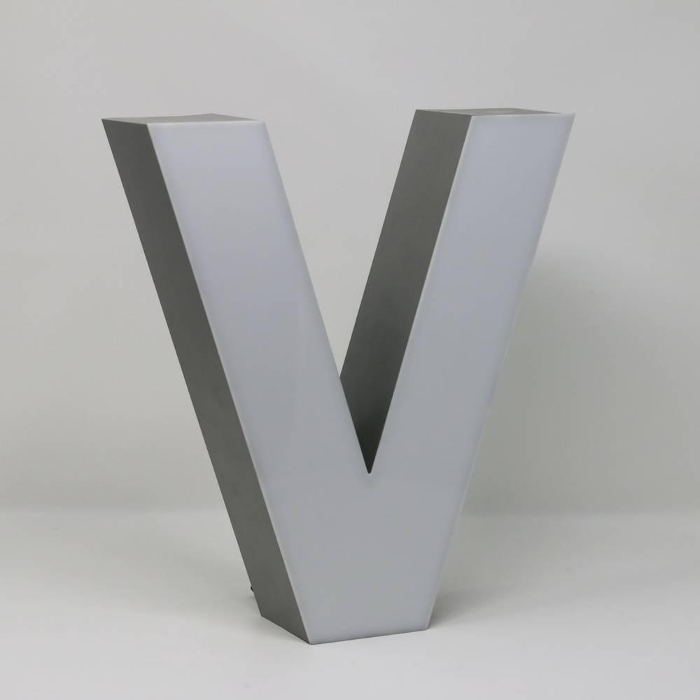 Silver Quizzy LED Buchstabe V-3