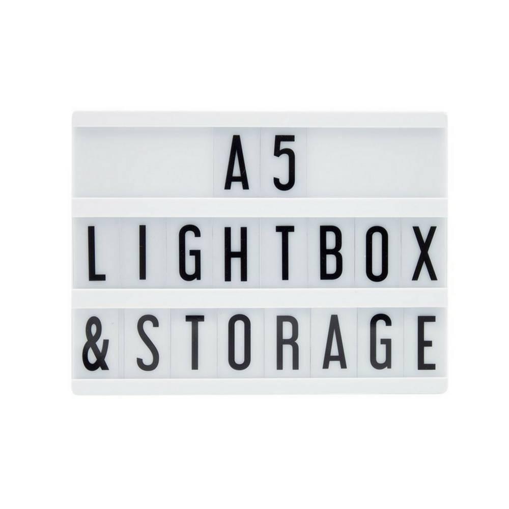 A5 Letter Lichtbak in Zwart met Micro USB Input-4