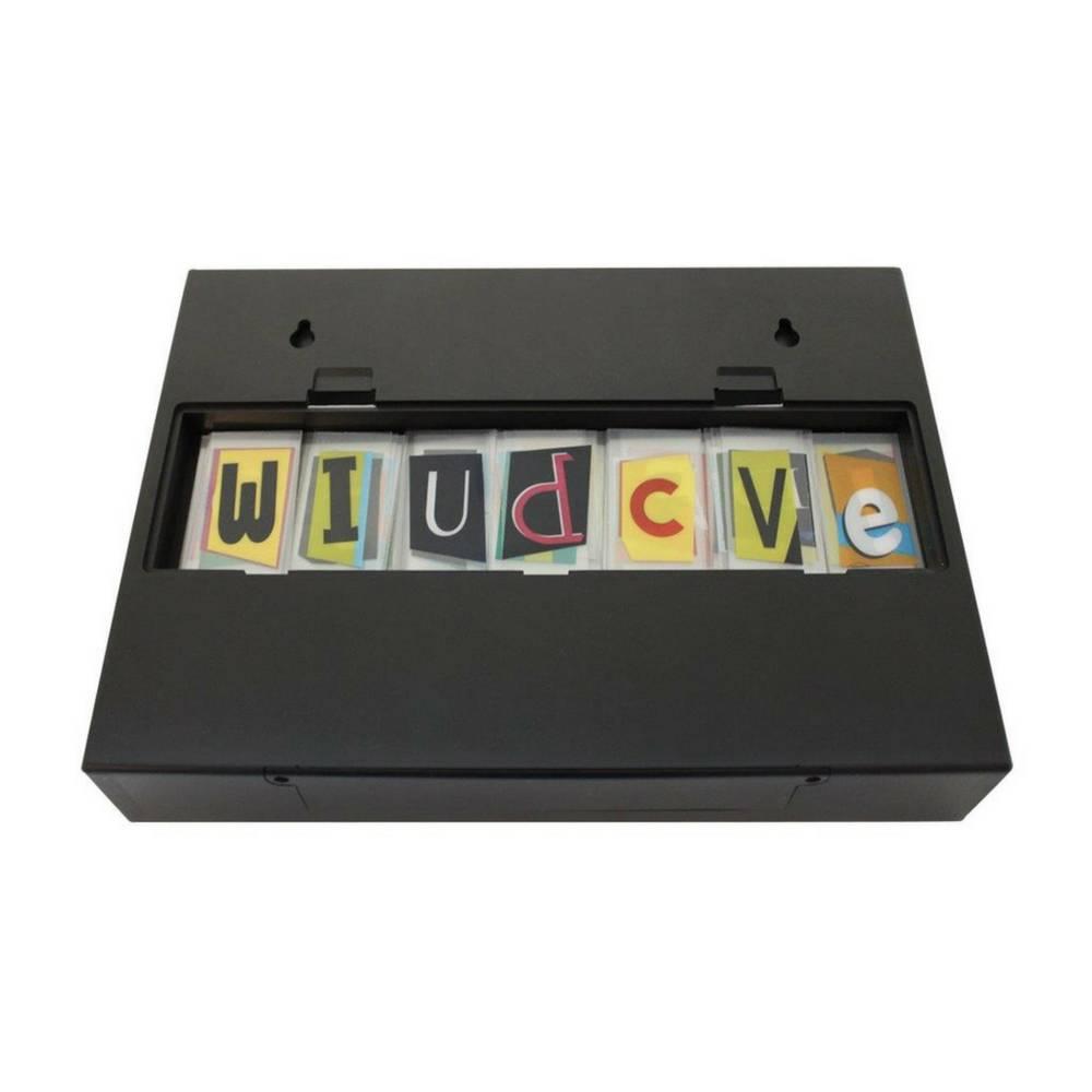 A5 Letter Lichtbak in Zwart met Micro USB Input-3