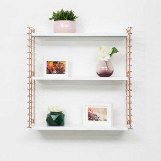 TOMADO Bücherregal | Kupfer & Weiß