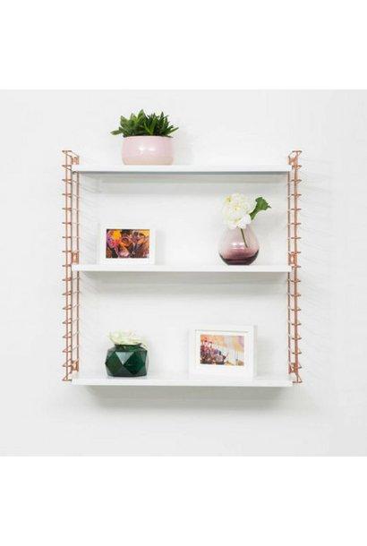 Bookshelf   Copper & White