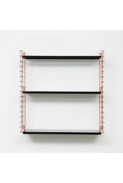 Bookshelf   Copper & Black