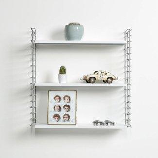 TOMADO Wandregal | Silber & Weiß