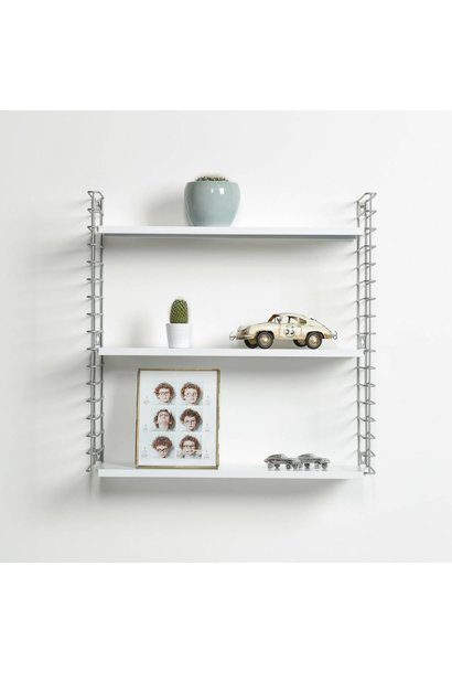 Wall rack   Silver & White