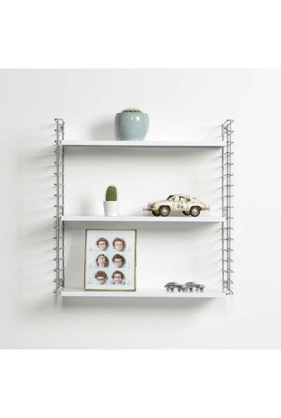 Wandregal | Silber & Weiß