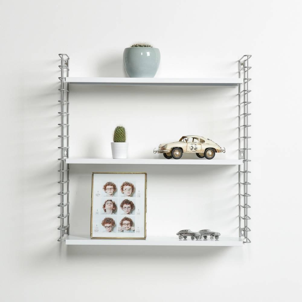 Boekenrek  in Zilver & Wit-1