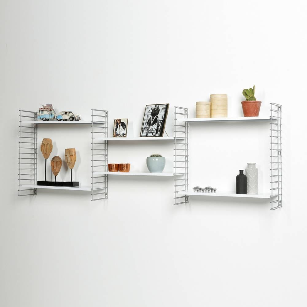 Boekenrek  in Zilver & Wit-5