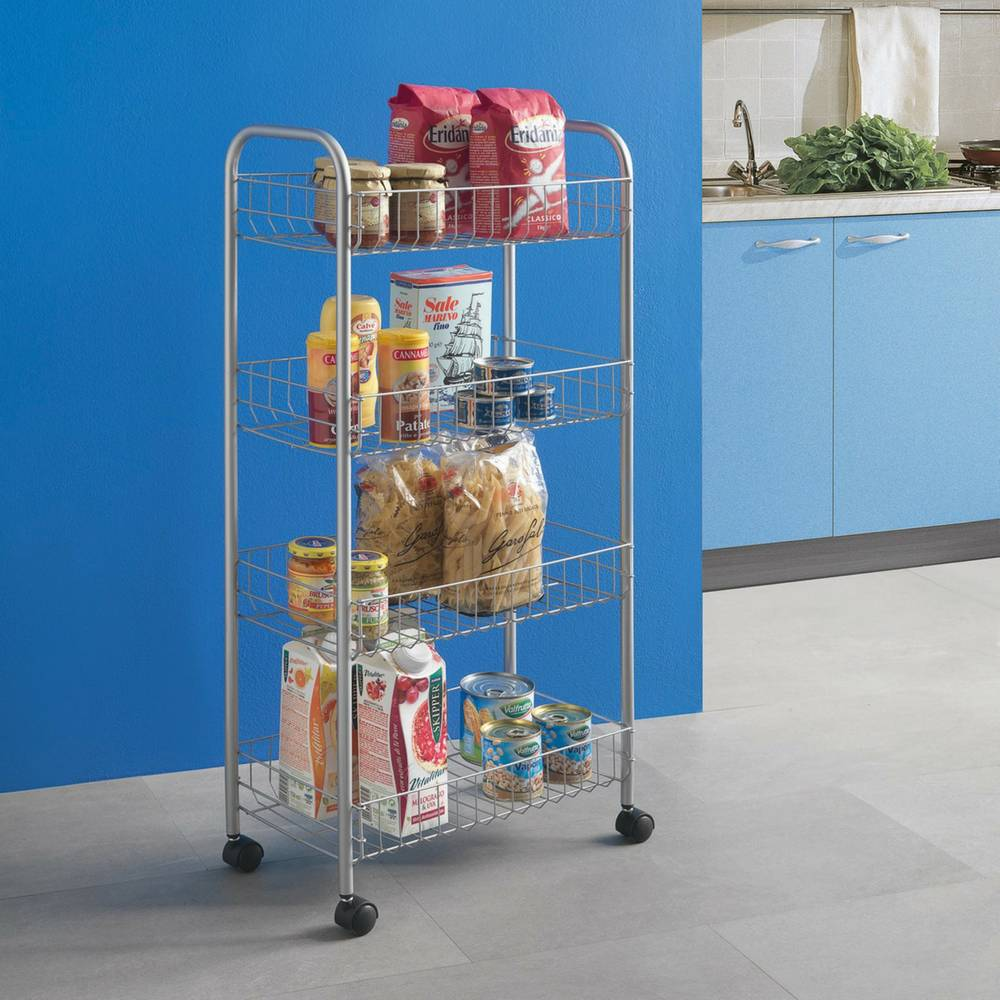 """Ascona"" Trolley in Silver-3"