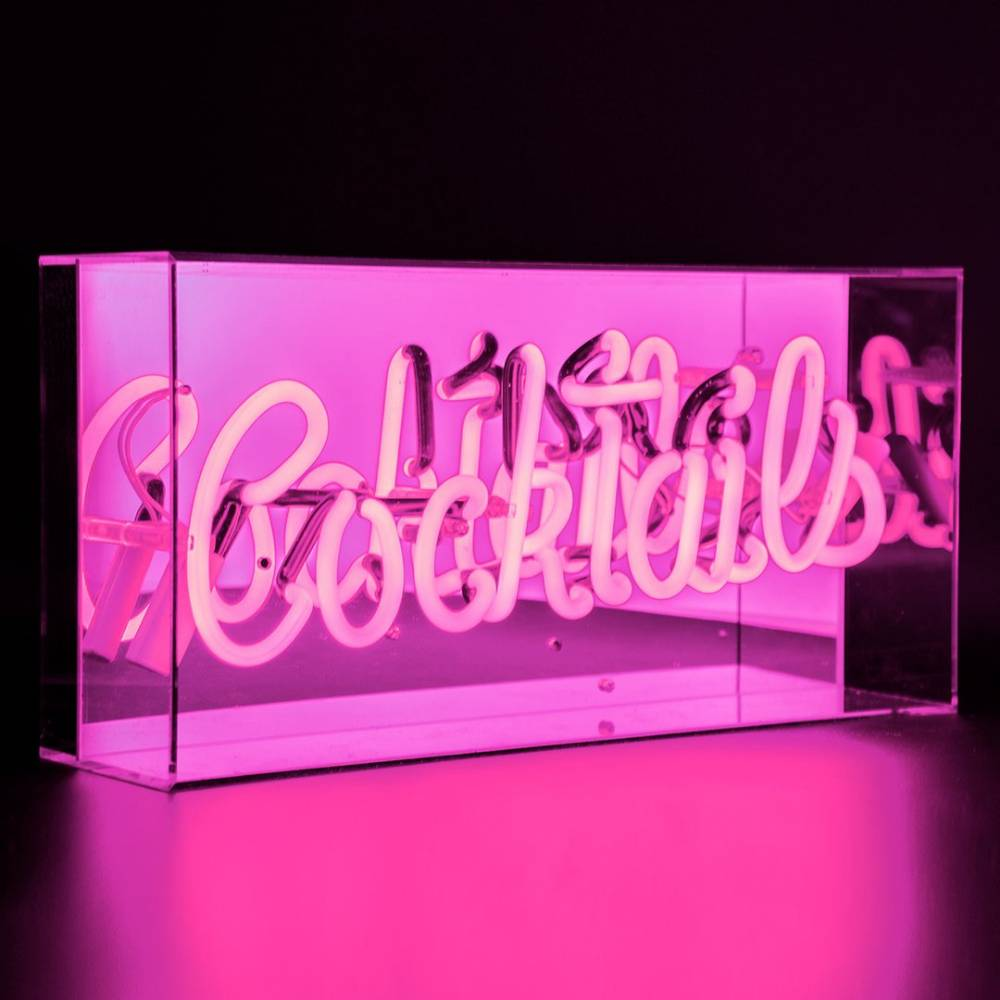 "Neon ""Cocktails"" Lightbox Sign-1"