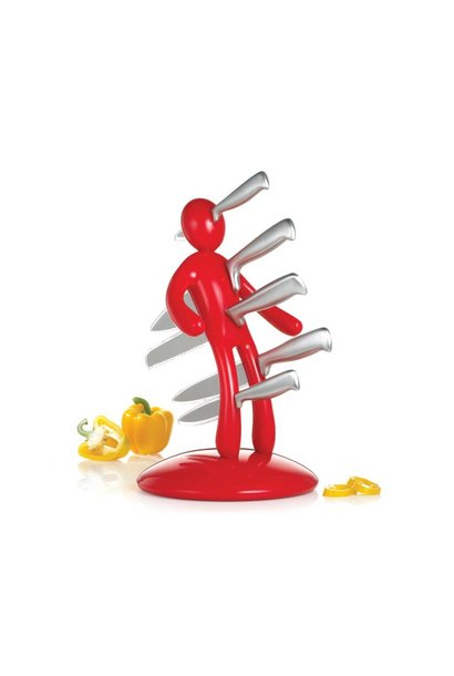 Knife Block in Red