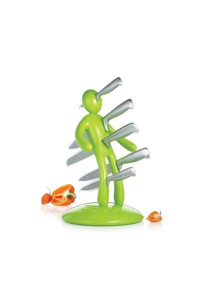 Knife Block in Green