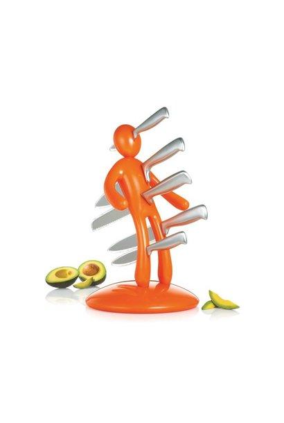 Knife Block in Orange