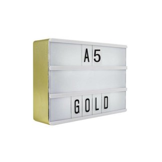 LOCOMOCEAN LIGHTBOX A5 | Gold