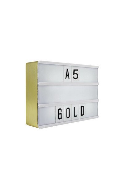 LIGHTBOX A5 | Goud