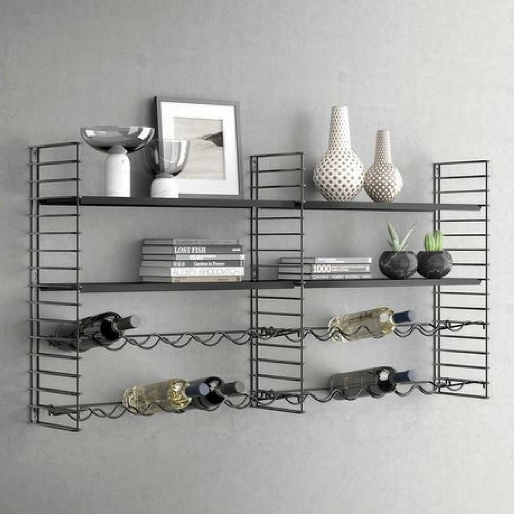 Bottle Rack Extension in Black for 6 Bottles-3
