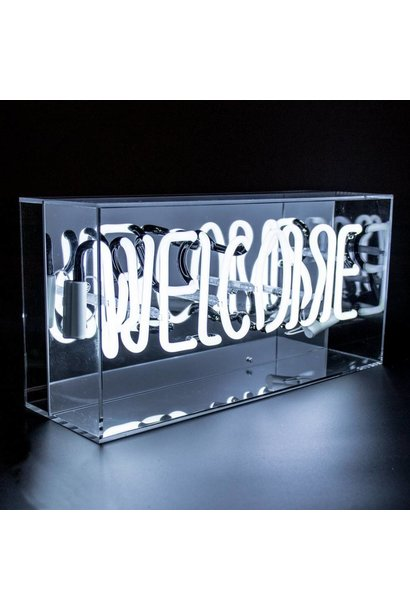 "NEON LIGHTBOX ""WELCOME"""