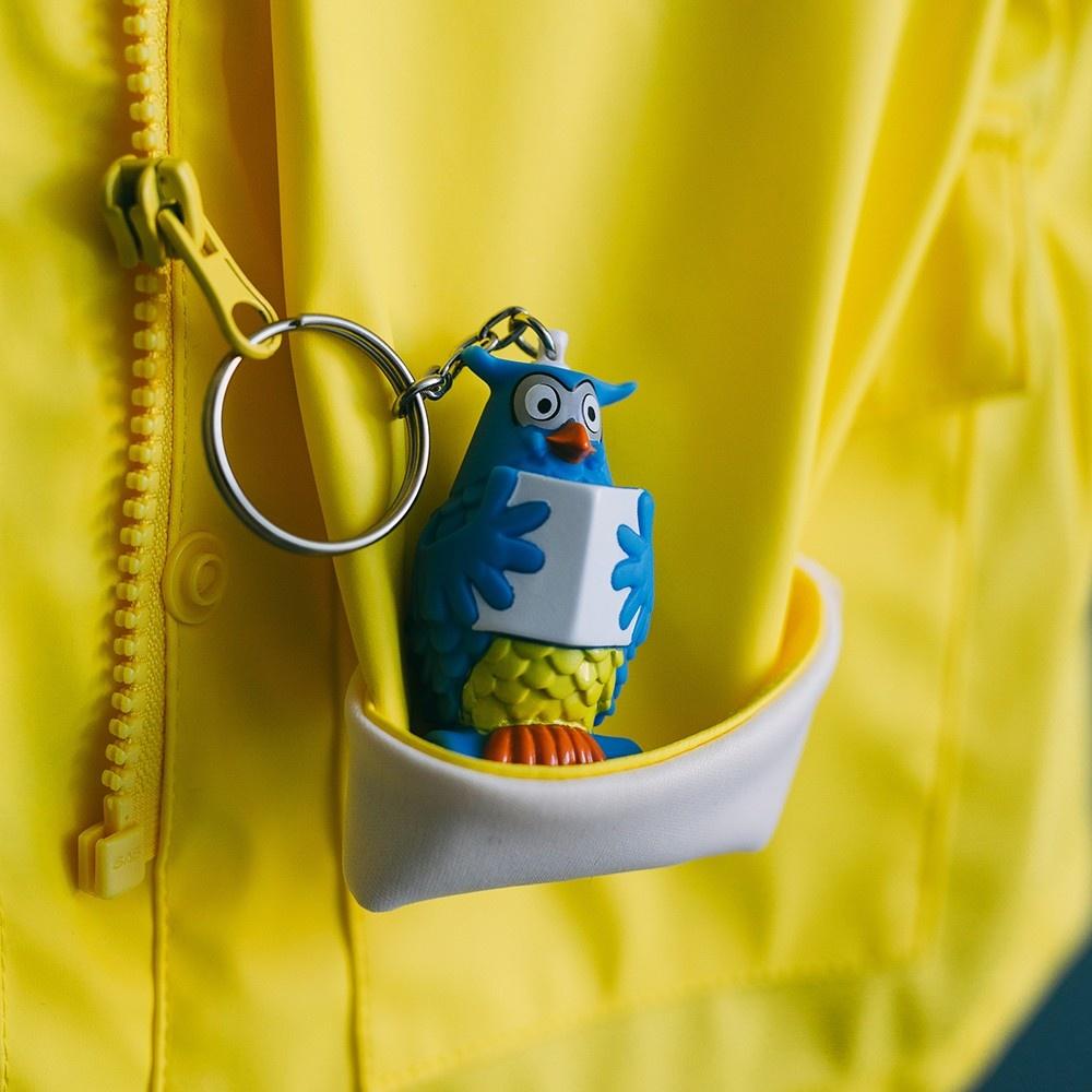 """Mister the Owl from """"De Fabeltjeskrant"""" as Keychain-2"""
