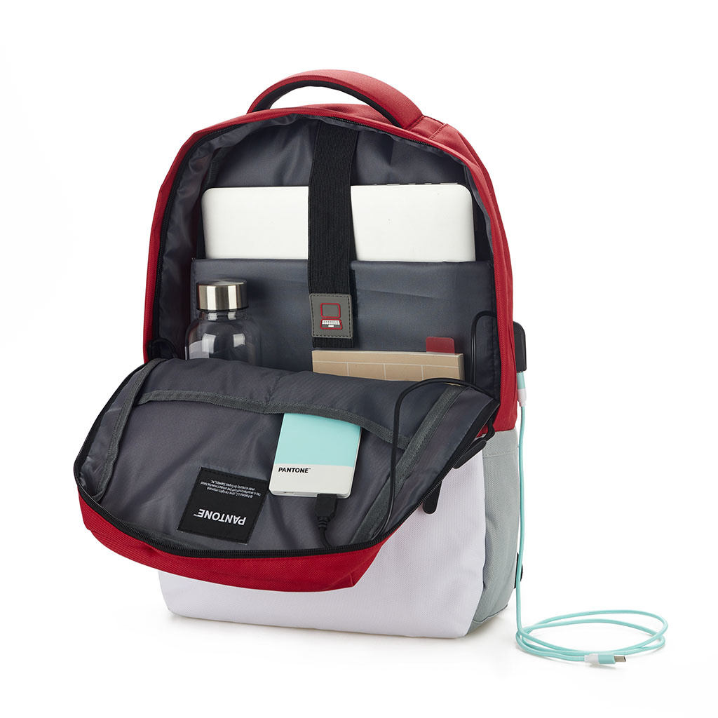 Pantone Backpack with USB-Port-2