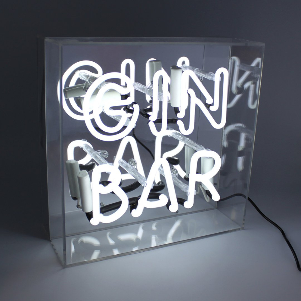 "Neon ""Gin Bar"" Lightbox Sign-1"