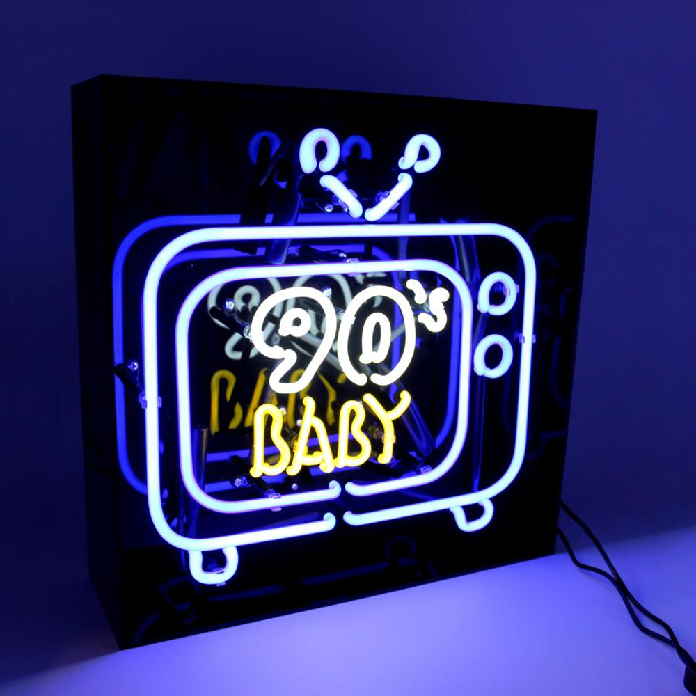 "Neon ""90's Baby Tv"" Lightbox Sign-1"