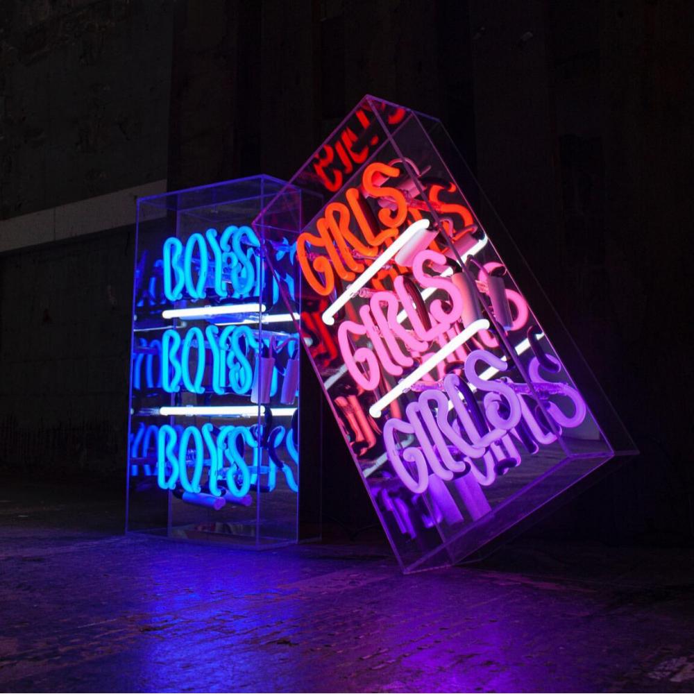 """Neon """"Boys"""" & """"Girls"""" Lightbox Sign-2"""