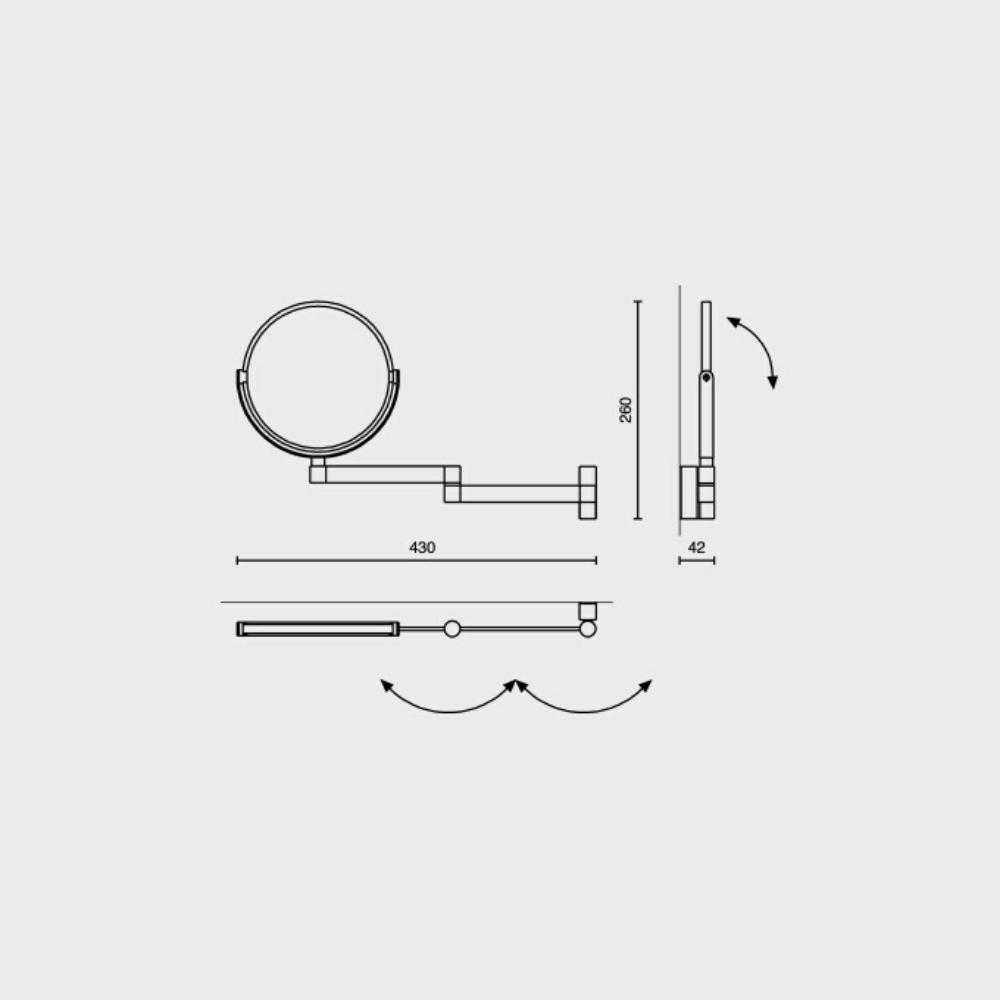 LINEA Cosmeticaspiegel - Zoom x 3-4