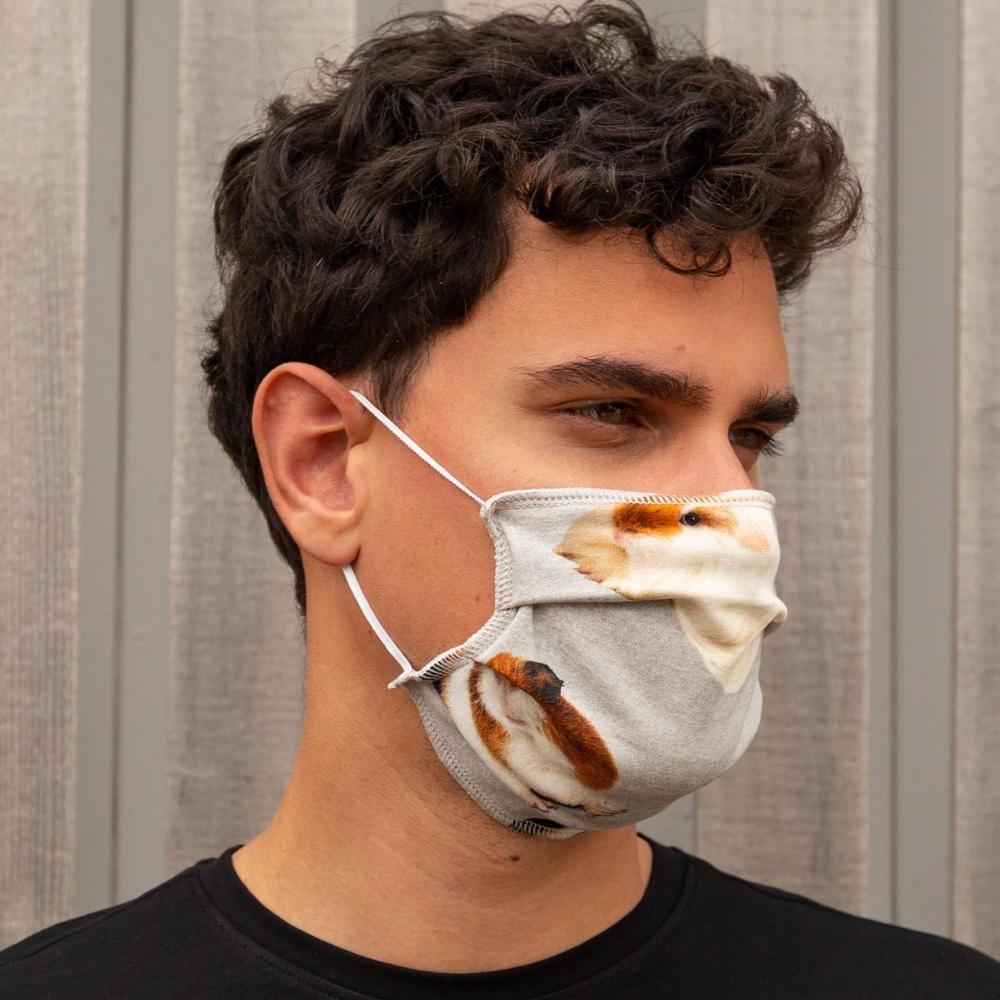 """Masque Buccal Réutilisable """"Cochon d'Inde""""-2"""