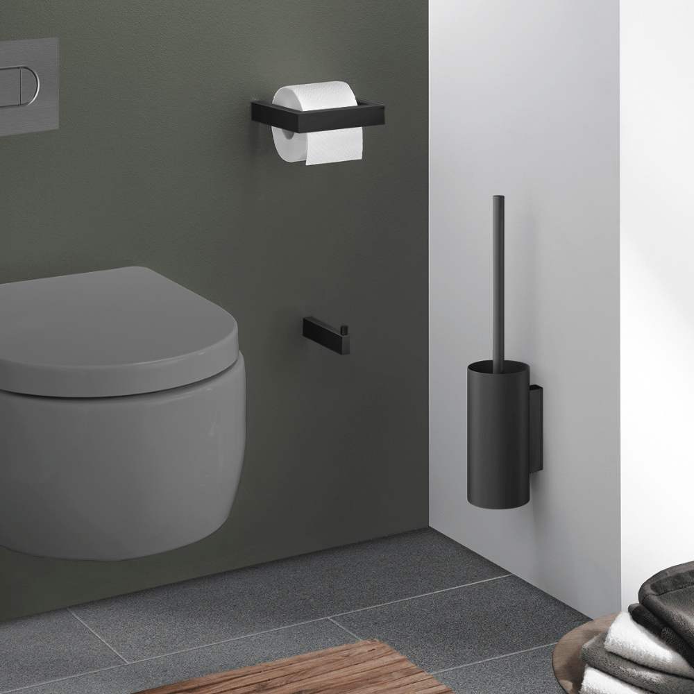 "Toilet Brush ""Linea"" Series in Black-1"