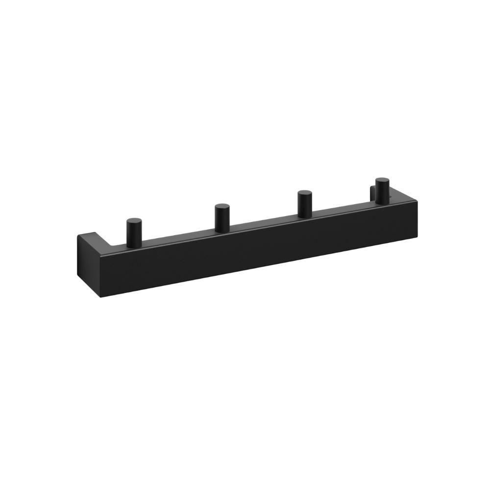 """Hook Rail """"Linea"""" Series in Black-2"""