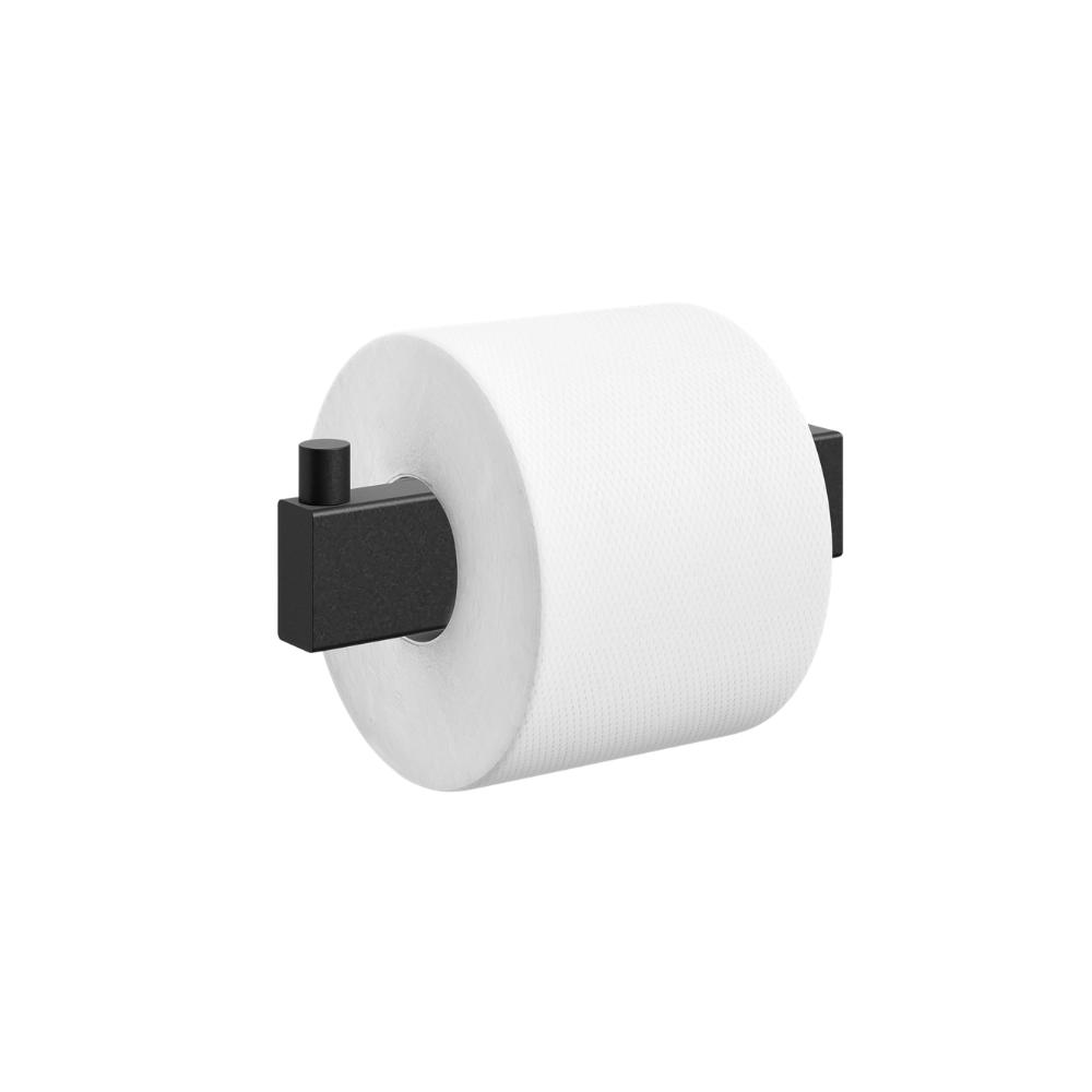 "Toilet Roll Holder ""Linea"" Series in Black-1"
