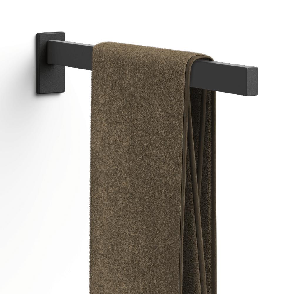 """Towel Holder """"Linea"""" Series in Black-1"""