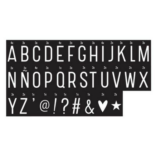 Lightbox 85 Monochrome Letters & Symbolen voor Lightbox-1
