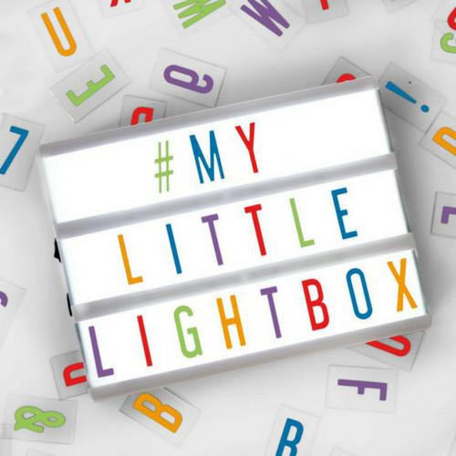 LIGHTBOX A5 Letter Lichtbak in Wit met Gekleurde Letters-1