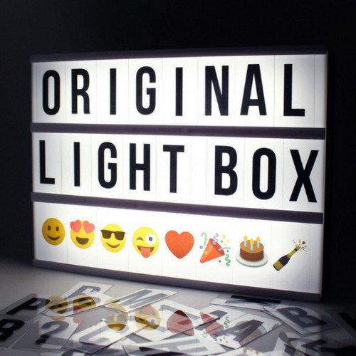 LOCOMOCEAN LIGHTBOX A4 | Zwart - Micro USB