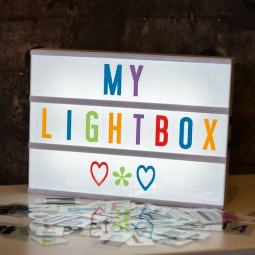 LIGHTBOX A4 Letter Lichtbak in Wit met Gekleurde Letters & Micro USB Input-1