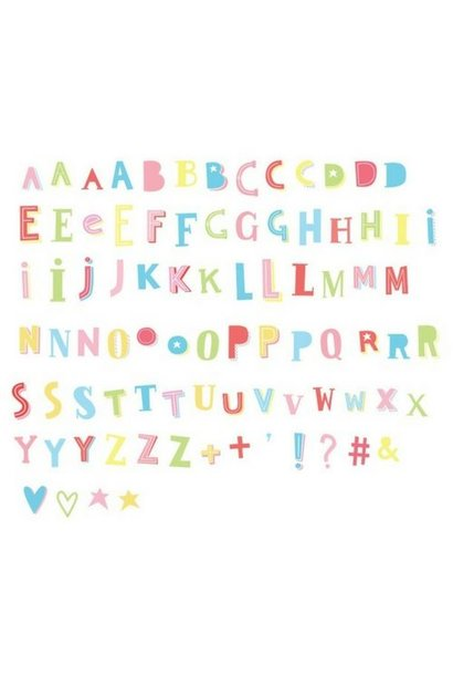 LIGHTBOX 85-Pack - Funky ABC Kleur