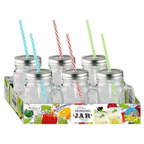Drinking Jars 450Ml - Set von 6 Stück-2