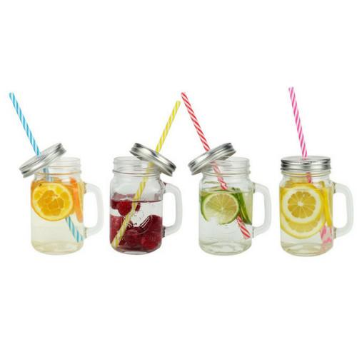 Drinking Jars 450Ml - Set von 6 Stück-1