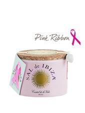 Sal de Ibiza Pink Ribbon Roze Keramische pot Fleur de Sel 150g met lepel