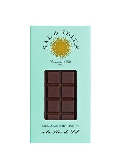 Sal de Ibiza Sal de Ibiza pure chocolade 70% met Fleur de Sel 80g