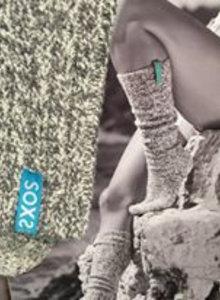 SOXS Soxs dames Ibiza turquioise label