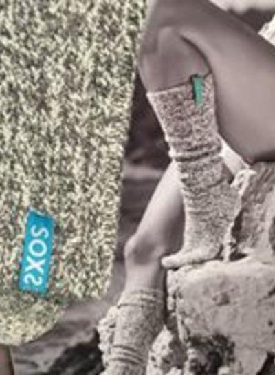 SOXS Soxs dames Ibiza turqoise label in Ibiza doos