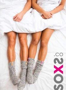 SOXS Soxs dames roze label