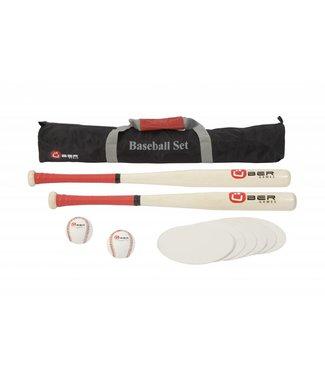 Ubergames Baseball Set- aus ECO-hartholz, in praktischer Transporttasche
